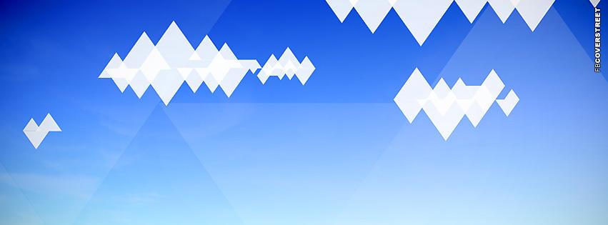 Triangle Clouds Landscape  Facebook cover