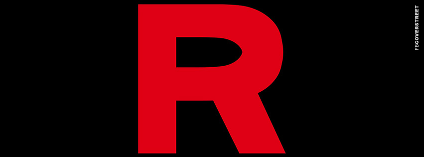 Team Rocket R Logo  Facebook Cover