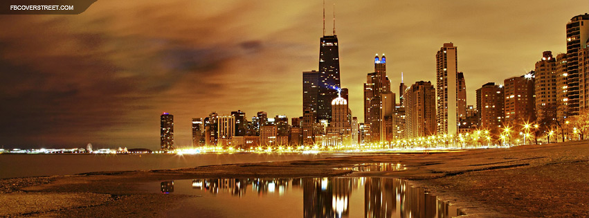 Chicago Cloudy Lights Facebook Cover
