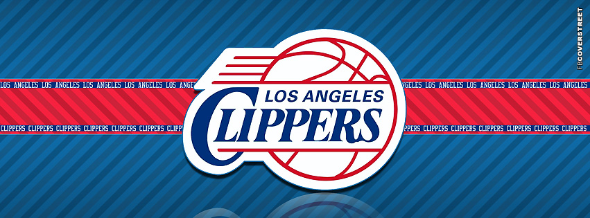 Los Angeles Clippers Striped Facebook cover