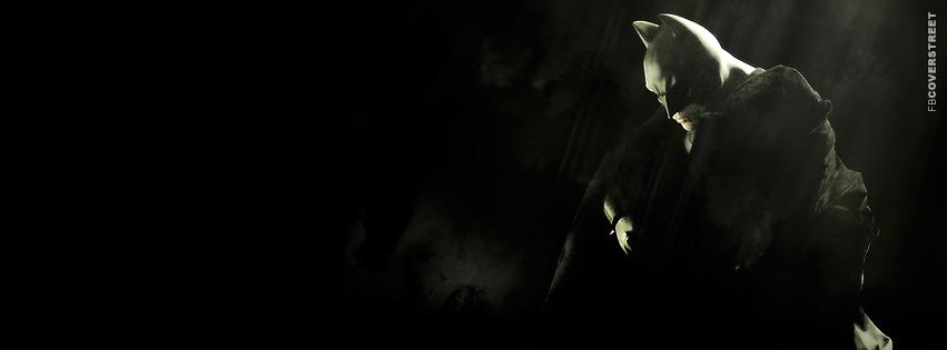 Batman Begins Batman Sitting  Facebook Cover