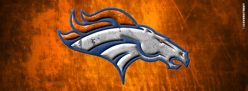 Denver Broncos Brutal Facebook Cover Logo  Facebook Cover