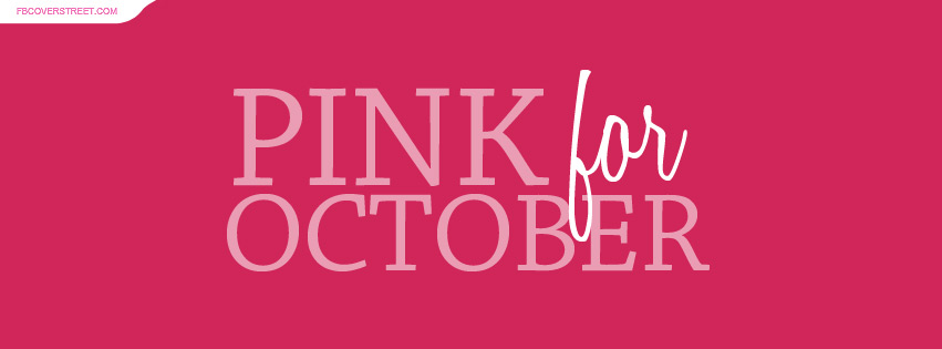 Pink For October Plain Facebook Cover