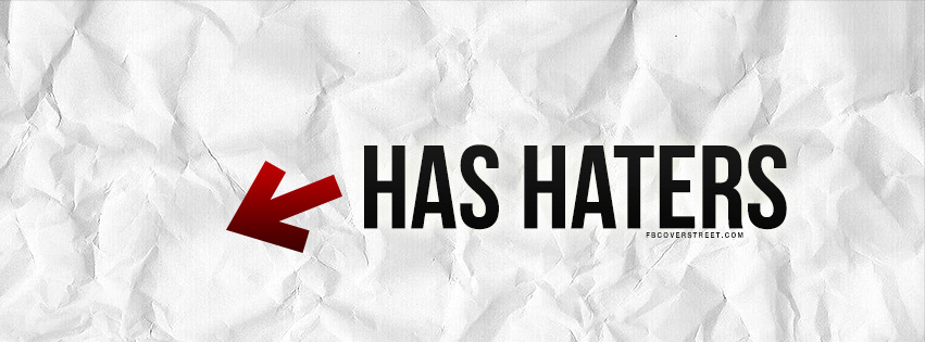 Has Haters Arrow Facebook cover