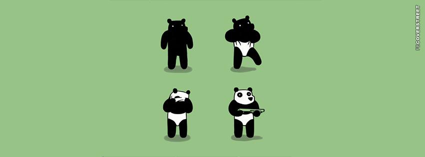 Bear Dressing As A Panda  Facebook Cover