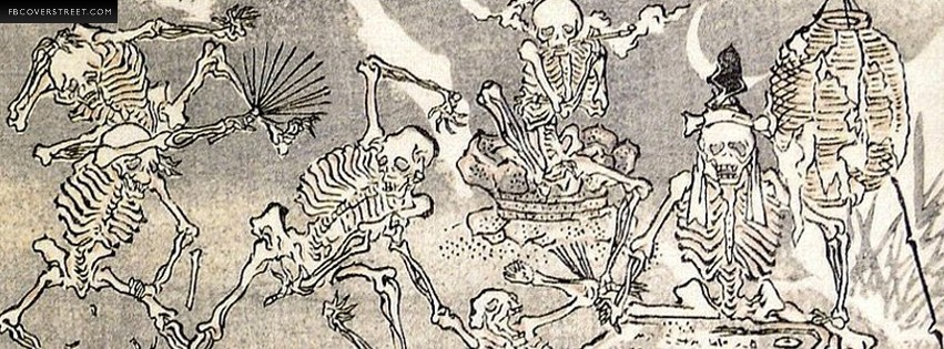 Partying Skeletons  Facebook cover