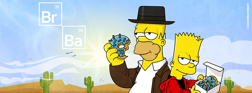 Breaking Bad Simpsons Edition Facebook Cover