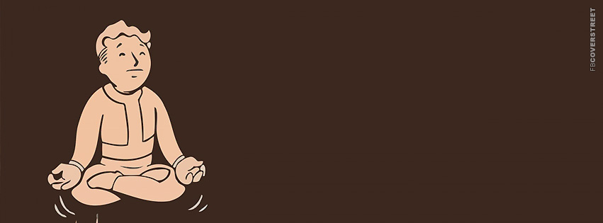 Meditating Vault Boy  Facebook Cover