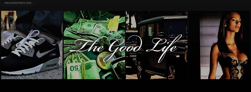 The Good Life Shoes Money Weed Cars Women Facebook cover