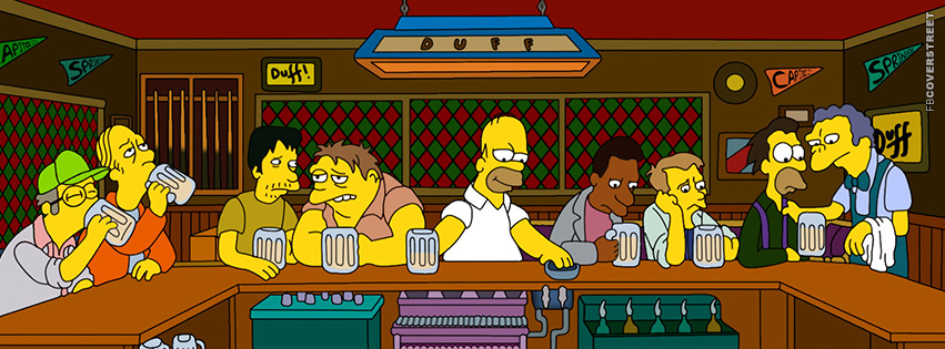 The Simpsons Last Supper  Facebook Cover