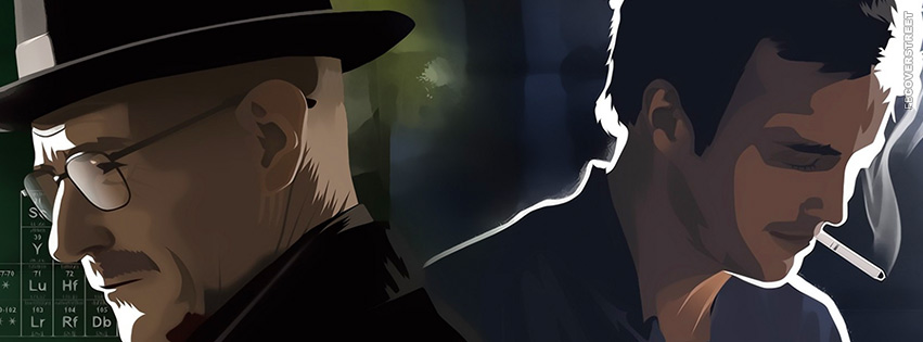 Walter White Heisenberg Jesse Artwork Breaking Bad Facebook Cover