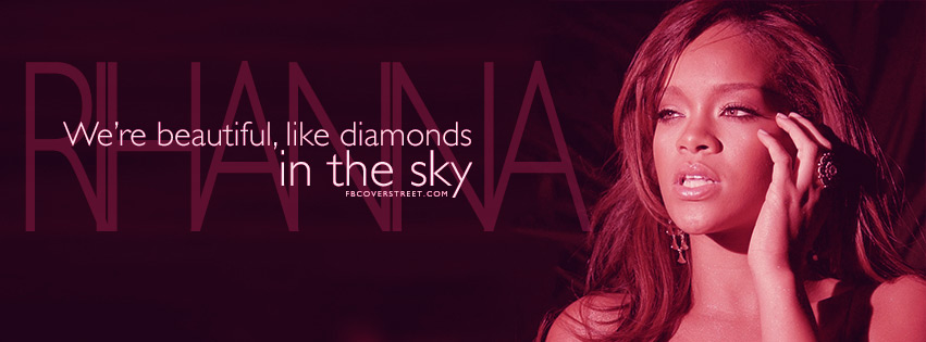 Rihanna Diamonds Lyrics Facebook cover