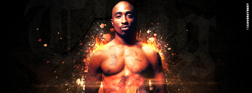 2pac Amaru Shakur Abstract Facebook Cover