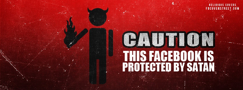 Protected By Satan Facebook Cover