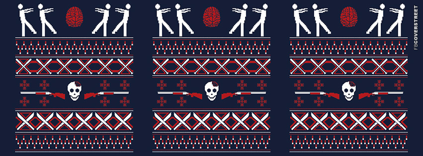 Zombie Christmas Pattern  Facebook cover