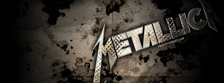 Metallica Dirty Metal Logo Facebook Cover