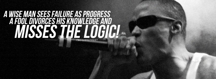 A Wise Man Sees Failure As Progress Canibus Quote Facebook Cover