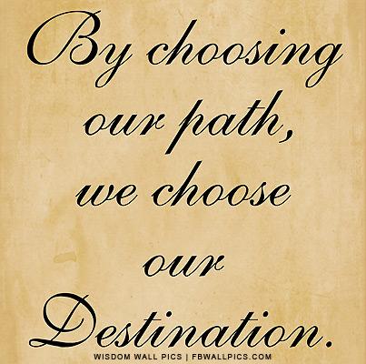 We Choose Our Destination Facebook picture
