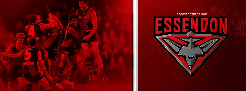 Essendon Bombers Team & Logo Facebook Cover