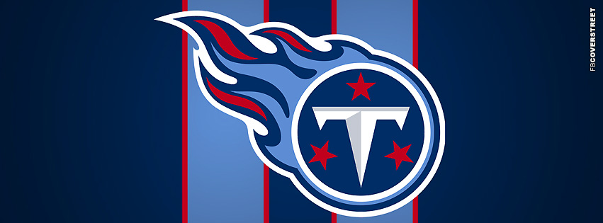 Tennessee Titans Striped Logo Facebook cover