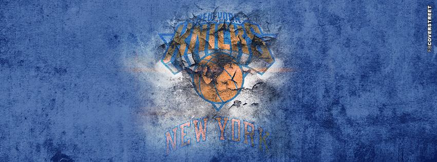New York Knicks Grunge Logo 2  Facebook cover