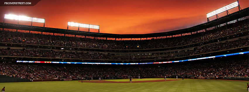 Texas Rangers Stadium Game Play  Facebook cover