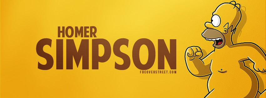 Homer Simpson Running Facebook Cover