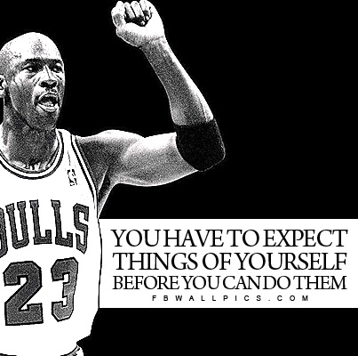 Michael Jordan Expect Things of Yourself Quote Facebook picture