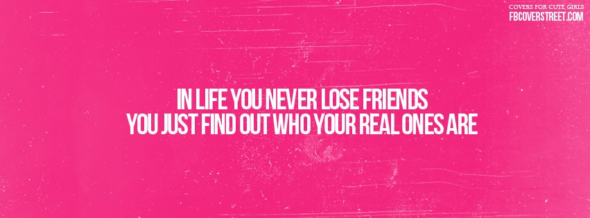Real Friends In Life Facebook Cover