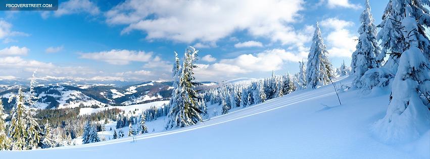 Winter Mountain Slope Photograph Facebook cover
