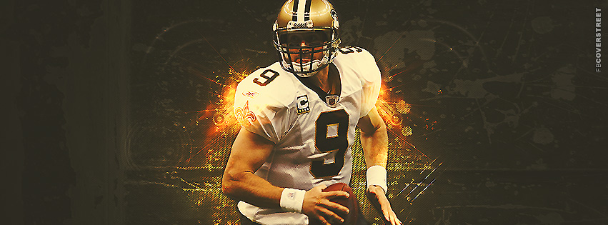Drew Brees Abstract Artwork New Orleans Saints Facebook Cover