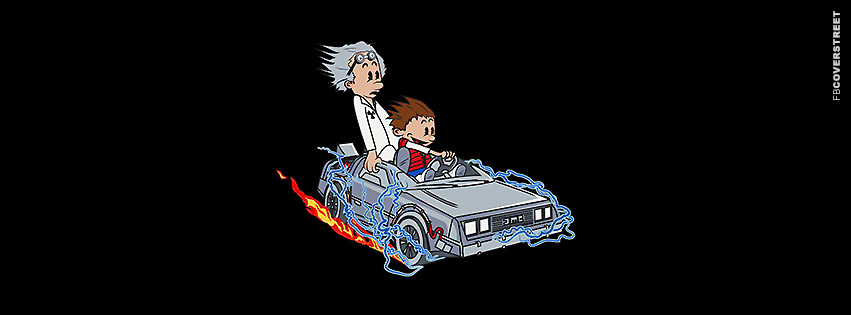 Calvin and Hobbes Marty and Doc  Facebook cover