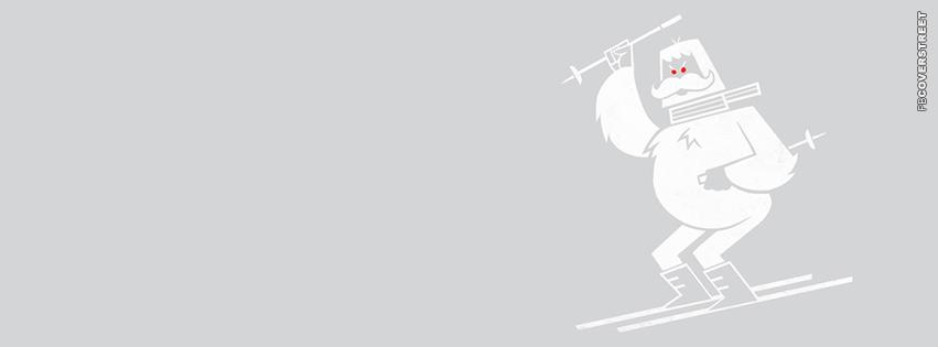 Windows Ski Game Yetti  Facebook Cover