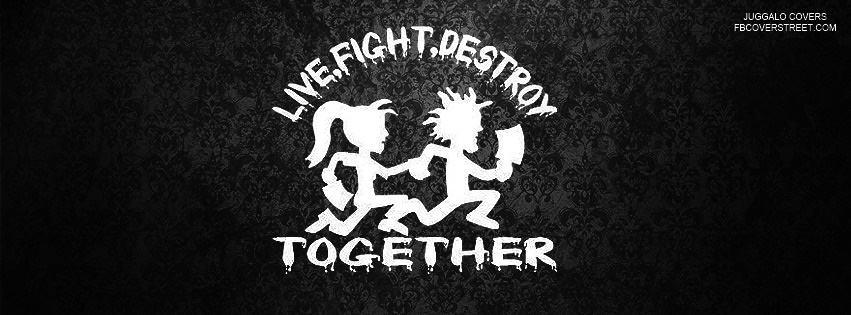 Live Fight Destroy Together Facebook Cover