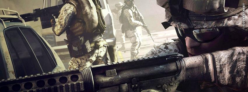 Battlefield 3 Scoped  Facebook Cover