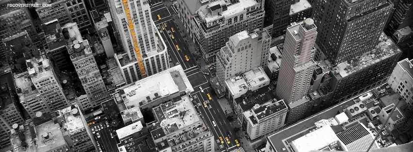 New York City Color Splash Yellow Facebook Cover