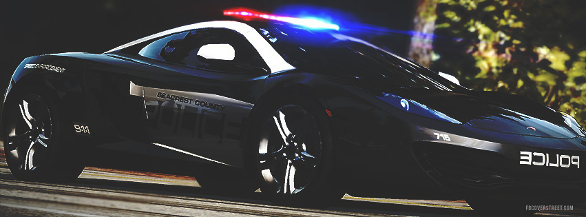 Need For Speed Hot Pursuit Police Car Facebook Cover