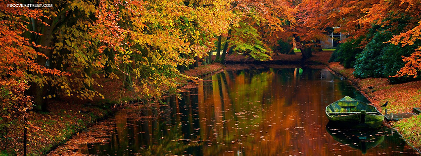 Lake In Autumn Facebook Cover