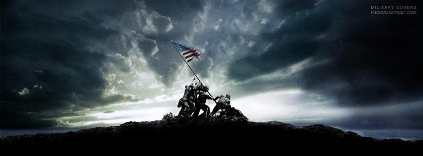 Soldiers Raising Flag Statue Facebook Cover