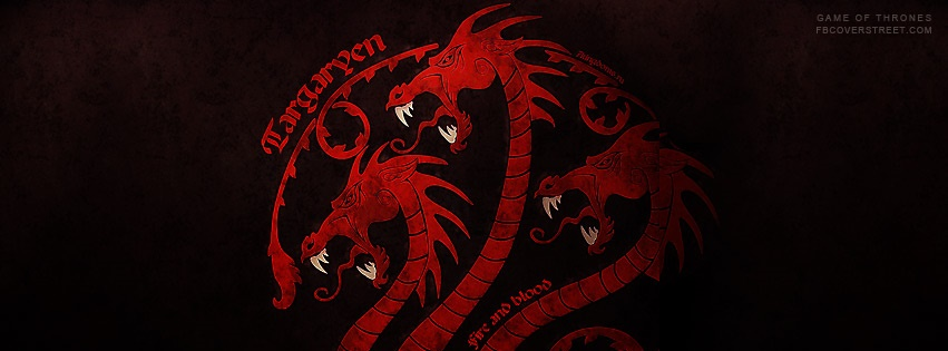 House of Targaryen Logo Flag Facebook Cover