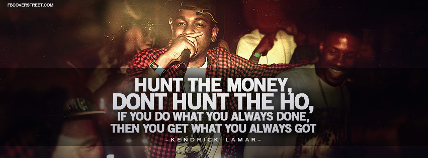 Kendrick Lamar Cartoons and Cereal Lyrics Facebook cover
