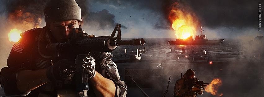Battlefield 4 Ship Gameplay  Facebook Cover