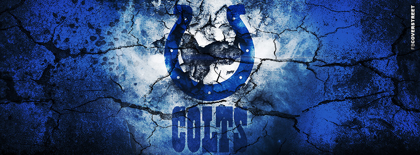 Indianapolis Colts Grunged Logo Facebook cover