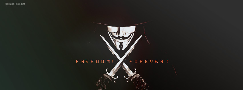 V For Vendetta Freedom Forever 2 Facebook cover