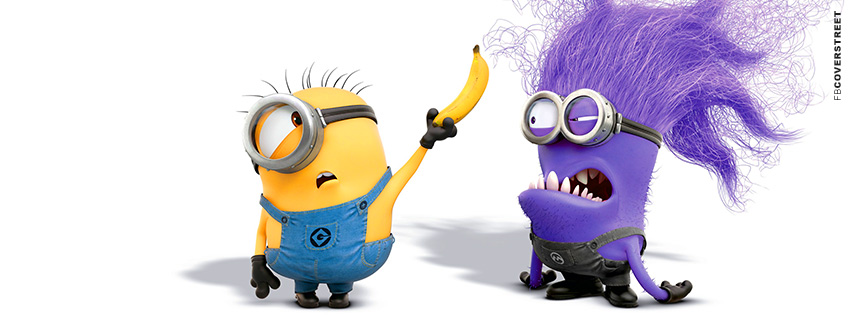 Despicable Me Minion and Purple Animal  Facebook Cover