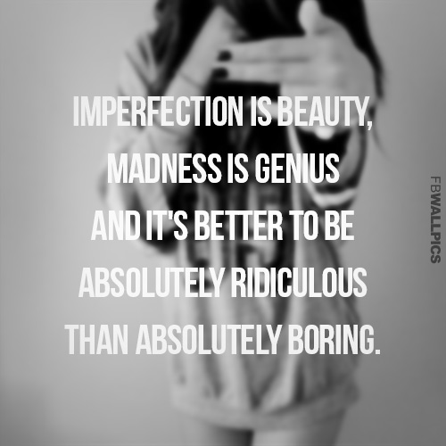 Imperfection Is Beauty Facebook picture