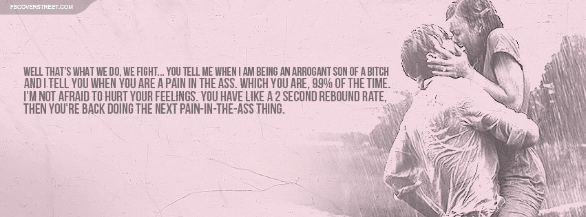 The Notebook Fight Quote Facebook Cover
