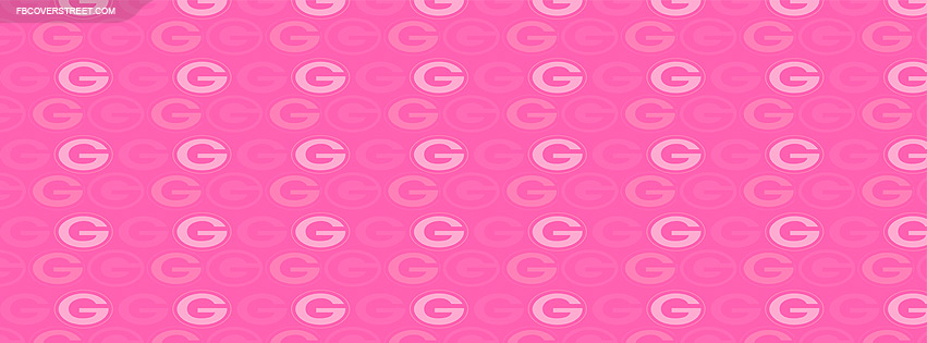 Green Bay Packers Logo Pattern Pink Facebook Cover