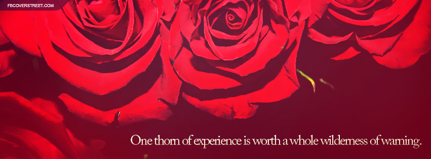 One Thorn of Experience Quote Facebook cover