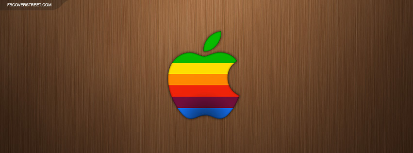 Apple Old School Logo Facebook cover